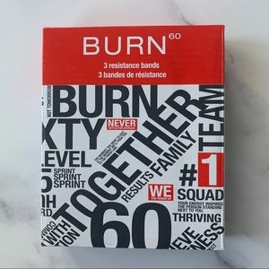 Burn 60 3 Resistance Fitness Bands New